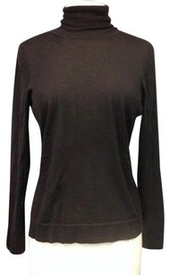 Other Boutique Cashmere Silk Blend Long Sleeve Turtleneck Sma 10687 Top Brown