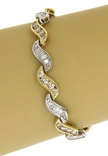 Other Two Tone 14k Gold 6.25 Carats Diamonds Ladies Stylish Bracelet