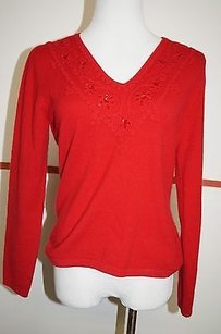 Neiman Marcus Cashmere Red Sweater