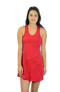 Vickie Brown Red Racerback Leigh Tennis Dress Polyspandex Blend