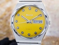 Vintage Bulova Automatic Circa 1970s Swiss Made Stainless Steel Mens Watch Ja35