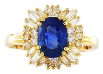 Other Vintage Ceylon Sapphire Diamond Sizeable Ring
