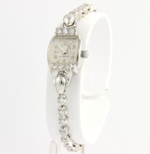 Vintage Diamond Ladies Watch 6.25 - 14k White Gold Lady Sanford Natural 1.08ctw
