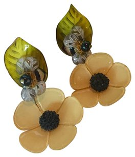 Other Vintage Flower Clip Earrings