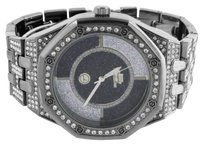 Other Black Watch Mens White Simulated Diamond Octagon Face Iced Out Jojino Jojo Ap-01