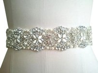 White Bridal Sash Bridal Belt