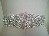 White Ribbon 3 Yards Long The Beaded Part Is 18 Inches By 2 Inches New