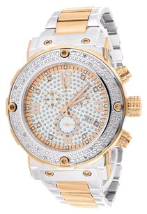White Rose Finish Watch Genuine Diamond Aqua Master Analog Water Resistant Sale
