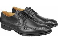 Sandro Moscoloni Forge Mens Leather Wingtip Oxfords Dress Shoes Black