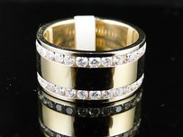 14k Mensladies Yellowgold Genuine Diamond Band Ring 1c