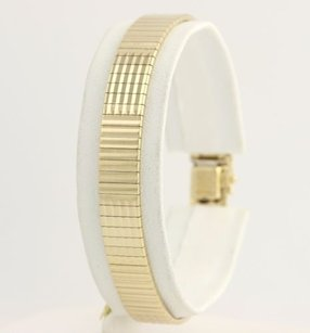 Womens Gold Bracelet 7 - 14k Yellow Italy Contemporary Flexible Polished 8mm