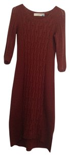 short dress Russet Wool Cable-knit Form-fitting on Tradesy