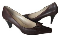 Other Work Pointed Toe Bow Elegant Brown Pumps