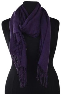 Other Pashmina Womens Purple Scarf Os Solid Cashmere Casual Fringed