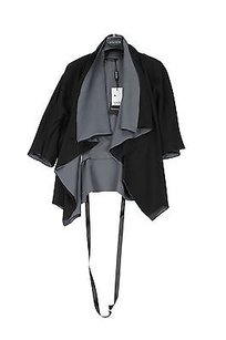 Other Caractere Aria Silk Wrap Womens Top Black