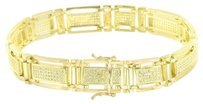 Other Yellow Simulated Diamond Bracelet Micro Pave 14k Gold Finish Round Cut Unique