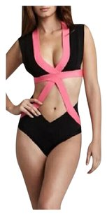 Othern SUMMER CLEARANCE LAST CHANCE New Black/Pink Monokini Bathing Suit
