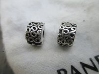PANDORA Authentic Pandora Lot Of 2 s Clips 790338 Sterling Silver