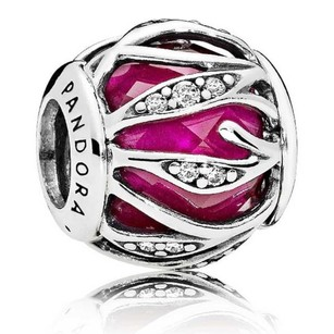PANDORA Nature Radiance Charm, Ruby and Clear CZ