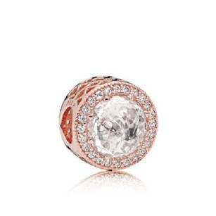 PANDORA New gradient heart charm and clear CZ