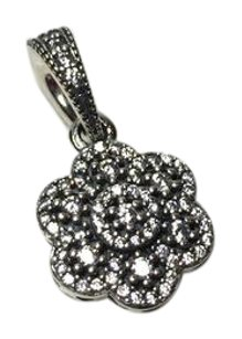 PANDORA New Pandora crystalized Floral dangle charm in original gift pouch