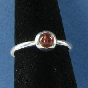PANDORA Pandora 190609gr Garnet Stack Ring Goodbye Kiss 6.25 925 Retired
