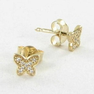 PANDORA Pandora 250320cz Earrings Petite Butterfly 14k Yellow Gold C Zirconia