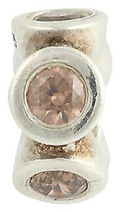 PANDORA Pandora Bead Charm - Sterling Silver 790226ccz Lights Champagne Cz Retired