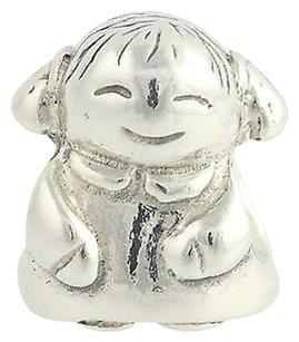 PANDORA Pandora Bead Charm - Sterling Silver 790375 Girl Retired Ale 925