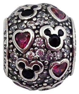 PANDORA Pandora Disney Sparkling Mickey And Hearts Charm 791457cz