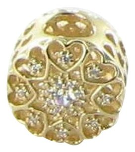 PANDORA Pandora 750841cz Beadcharm Hearts Of Gold Cz 14k Yellow Gold