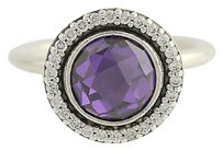 PANDORA Pandora Ring - 190904acz Brilliant Legacy Purple Cz Sterling Silver 754