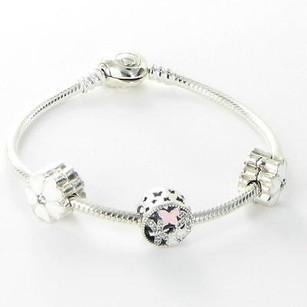 PANDORA Pandora Usb796019 Flowers From The Heart Gift Set Bracelet Charms Box