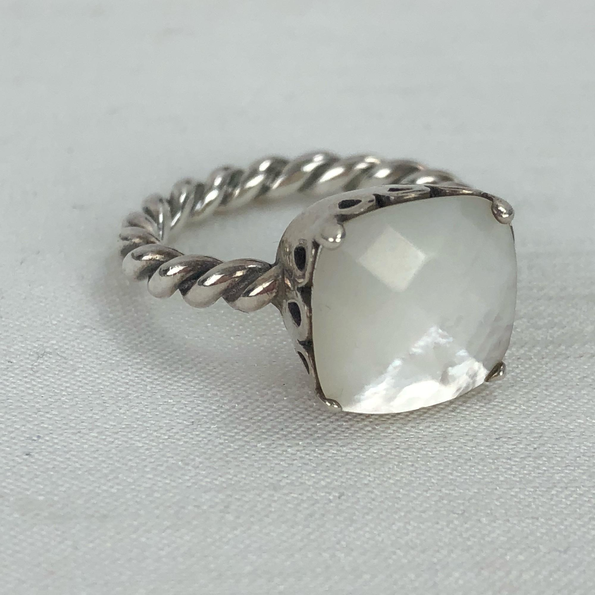 d4a501bb5 closeout pandora mother of pearl ring on sale a738f 029ec