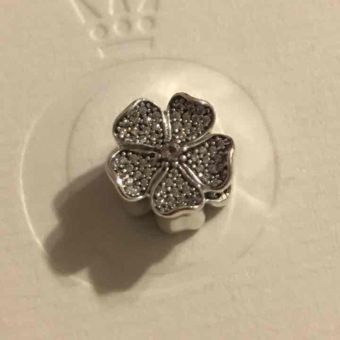 Pandora Silver Pink Clear Sparkling Apple Blossom Bead
