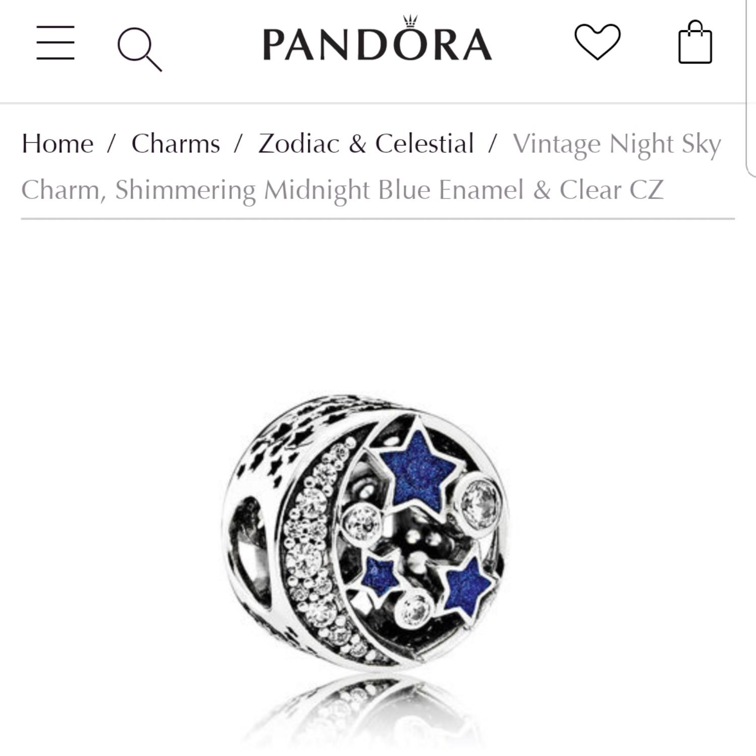 34b48d146 ... shimmering midnight blue enamel clear cz 74d48 9dcd8 good pandora  pandora vintage night sky charm.
