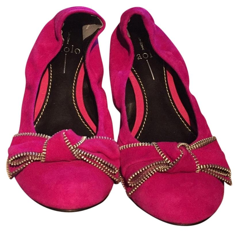 c0ca8dff0 Paolo Fuschia Suede Flats Size US 8 Regular (M