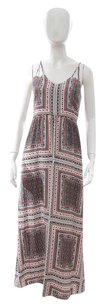 Multi-Color Maxi Dress by Parker Red Black Geometric