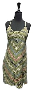 Patagonia short dress Green Pink Blue Sleeveless Striped Keyhole 105a on Tradesy