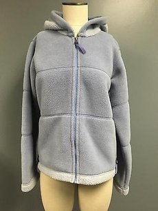 Patagonia Periwinkle Hooded Zip Long Sleeve Fleece W Sma4420 Blue Jacket
