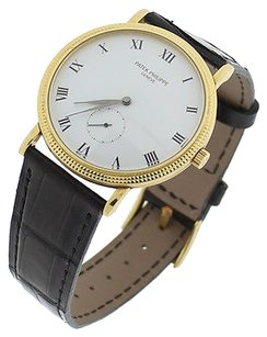 Patek Philippe Patek Philippe Calatrava 18K Gold 33mm Ref. 3919 J Hobnail Manual Wind Watch