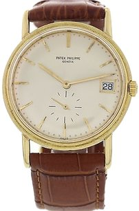 Patek Philippe Mens Vintage Patek Philippe Calatrava 18k Yellow Gold Automatic 34456