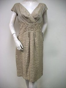Patra Beaded Sand Champagne Dress