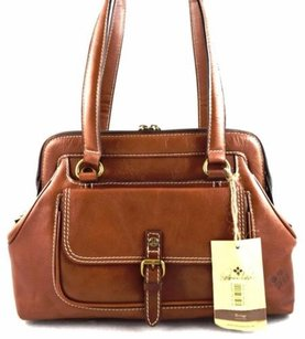 Patricia Nash Designs Italian Leather Satchel in Brown
