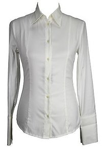 Patrizia Pepe Bc0143 Womens 42 It Top White