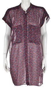Patterson J. Kincaid short dress Multi-Color J Womens Red Floral Shirt Above Knee on Tradesy