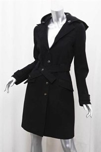 Paul & Joe Black Wool Trench Coat