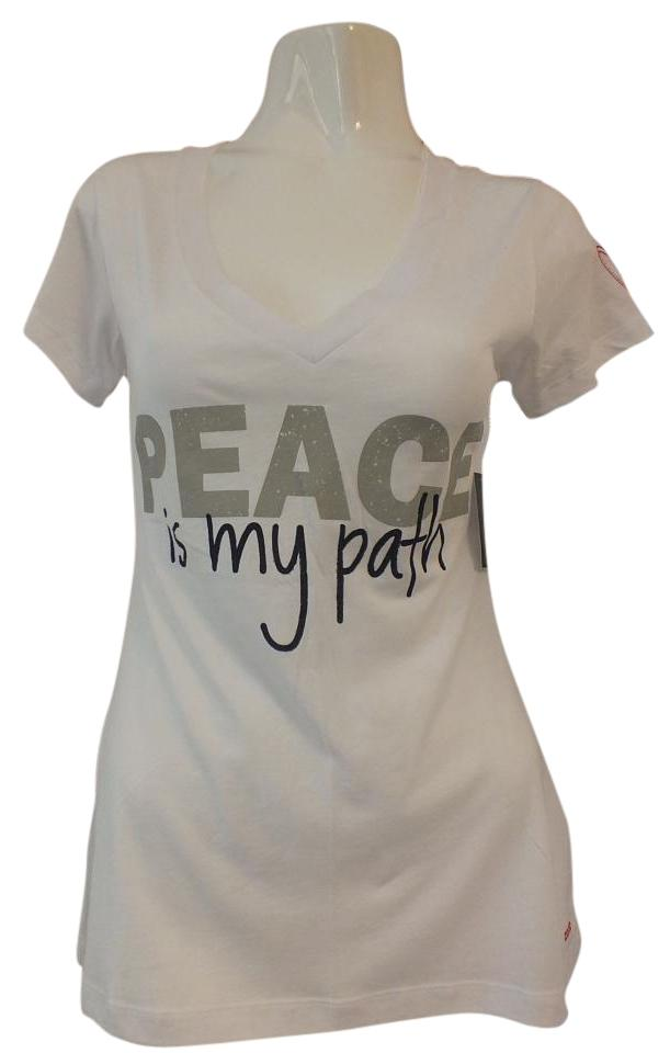 Peace Love World T Shirt White