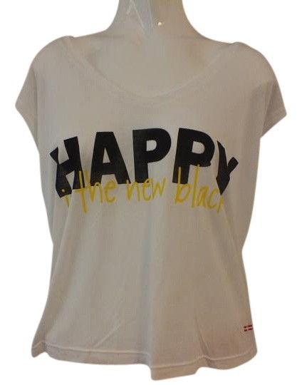Peace Love World T Shirt White Yellow Black