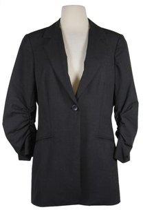 Peace of Cloth Reace Of Cloth Womens Gray Solid Blazer Jacket 34 Sleeve Polyester Blend